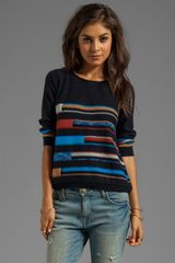 Autumn Cashmere Broken Space Dye Boat Neck Sweater - Lyst