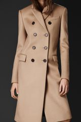 Burberry Bonded Cashmere Chesterfield Coat - Lyst