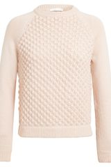 Chloé Bubble Knit Wool Jumper - Lyst