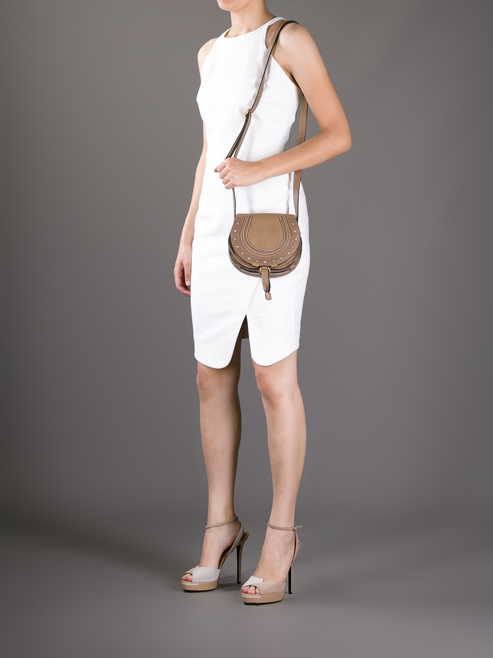 Chlo�� Marcie Saddle Bag in Brown (nut) | Lyst