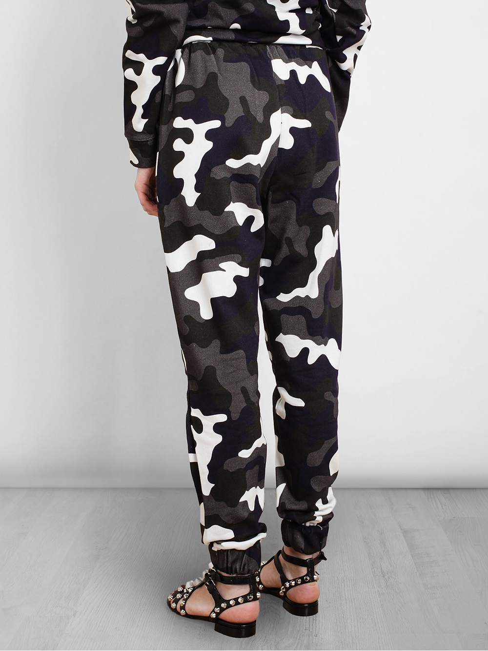 Brilliant Anna K Camo Printed Techno Pants In Gray (CAMOUFLAGE) | Lyst