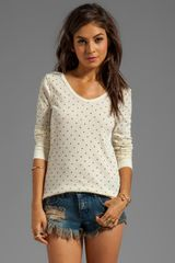 Free People Printed Thermal in Cream - Lyst