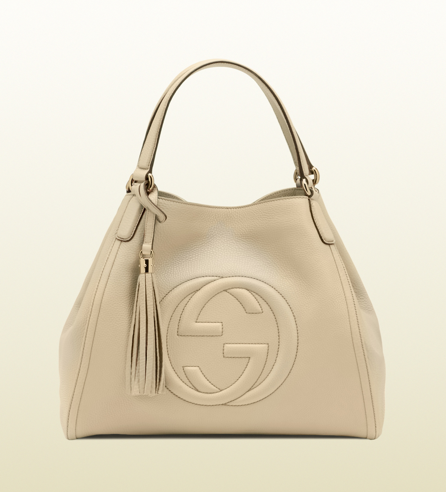Gucci Soho Cream Leather Shoulder Bag in White - Lyst ae271a622fc29