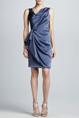 J. Mendel Hammered Silk Wrap Skirt Dress Hydrangea - Lyst