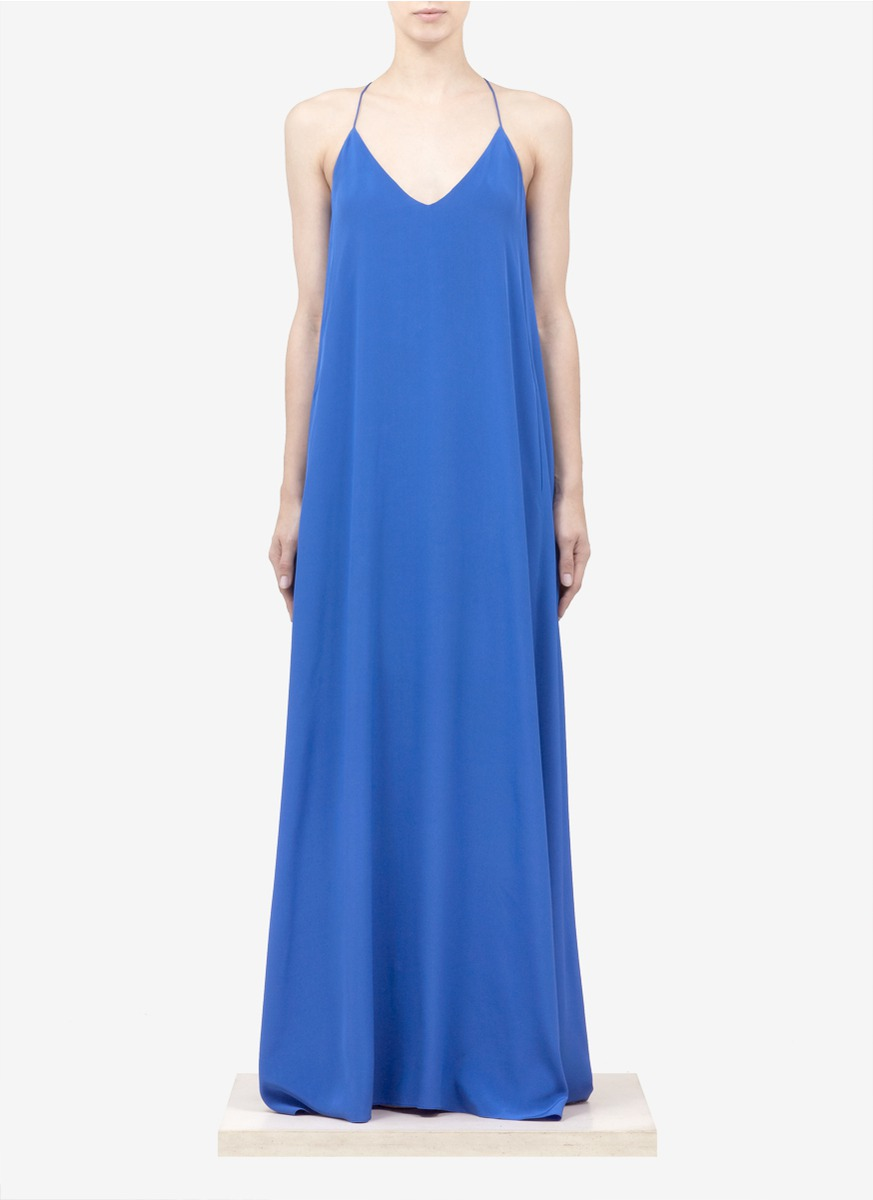 5aa95e6dc7b J.Crew Collection Silk Maxi Dress in Blue - Lyst