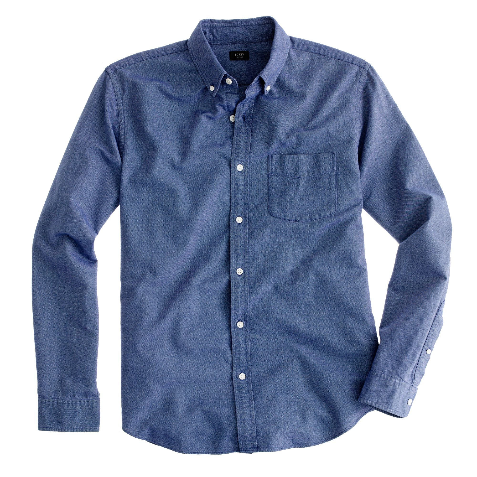 Tall vintage oxford shirt in tonal cotton in blue for J crew mens outfits