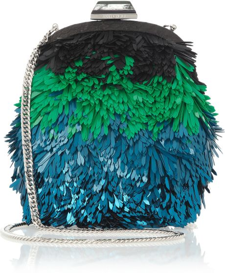Jimmy Choo 'Ruby' Clutch in Multicolor (Turquoise Mix)