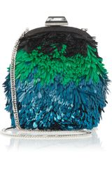 Jimmy Choo Castina Sequined Shoulder Bag - Lyst