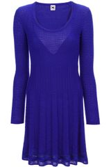M Missoni Textured Knit Long Sleeve Dress - Lyst