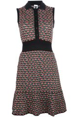 M Missoni Sleeveless Contrast Collar Dress - Lyst