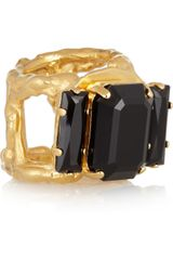 Marni Goldplated Crystal Ring - Lyst