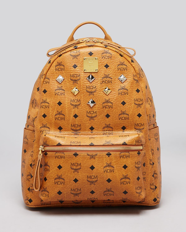 mcm 39 stark 39 backpack in brown lyst. Black Bedroom Furniture Sets. Home Design Ideas