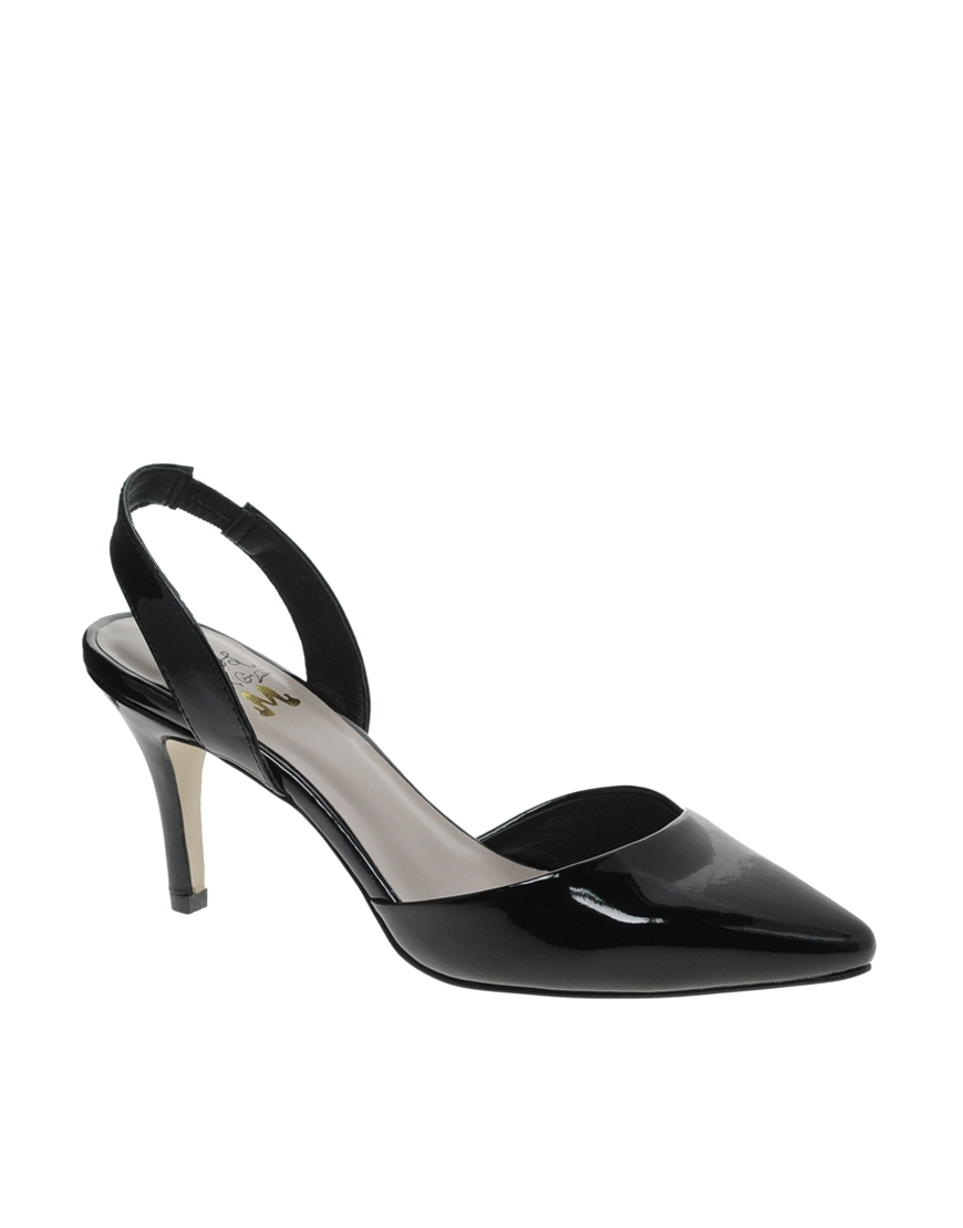 3b302d285 Miss Kg Celeste Mid Heel Sling Back Pointed Shoes in Black - Lyst
