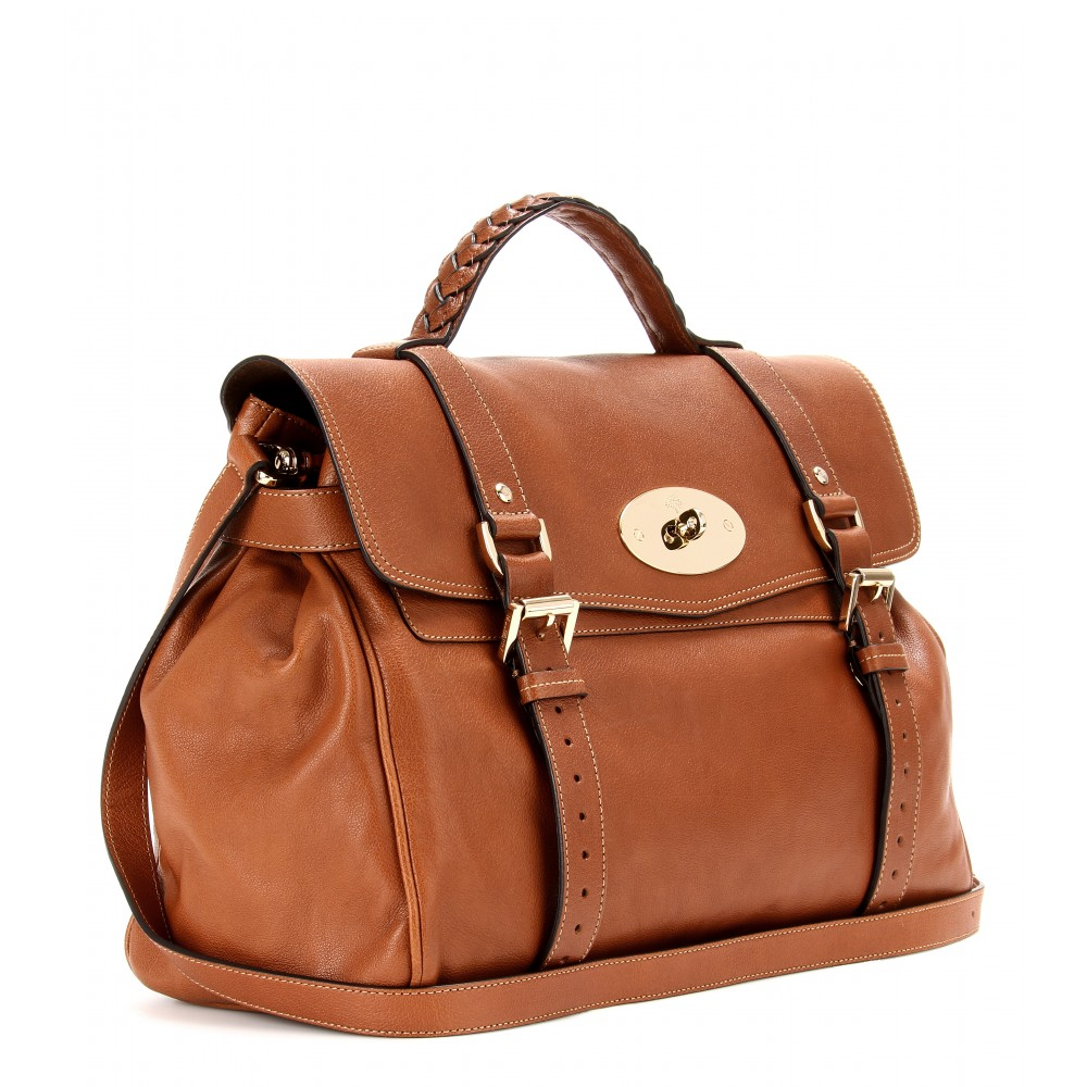 dbd978975cbc ... best price lyst mulberry oversized alexa leather satchel in brown a91e4  9db4a