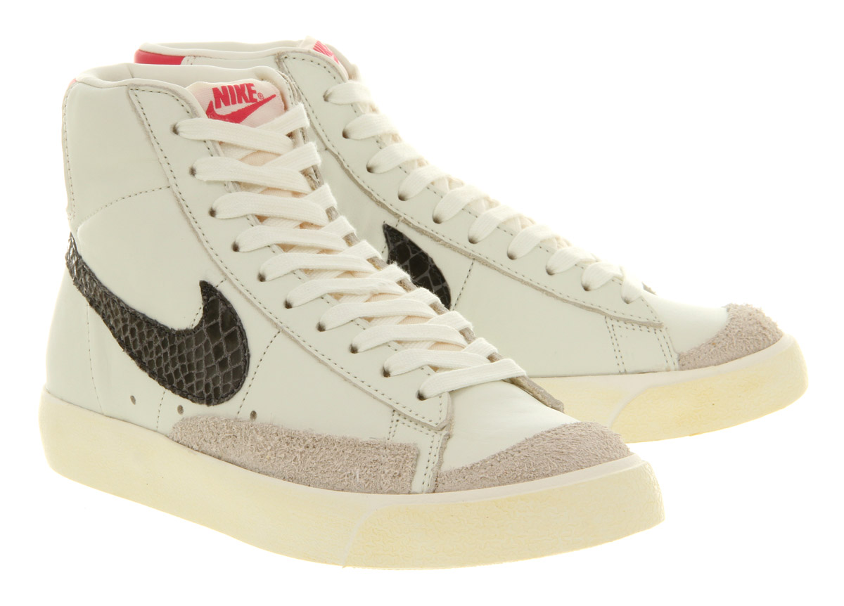 sneakers for cheap 63b13 7cecb ... inexpensive lyst nike blazer mid 77 sail pink snake in natural d4330  74b9a