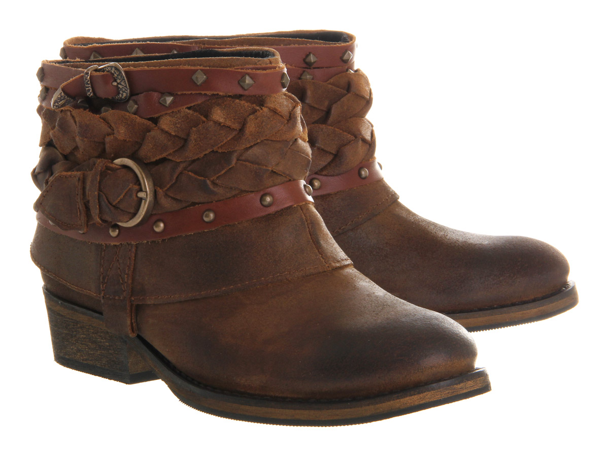 Lyst Office Boho Boot Tan Suede In Brown