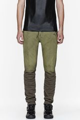 Pierre Balmain Olive Two_tone Lounge Pants - Lyst