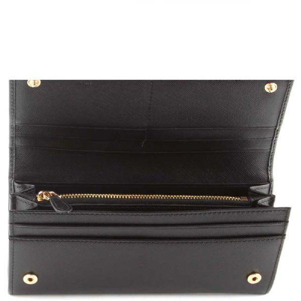 prada chain - prada saffiano bow continental wallet