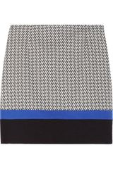 Tibi Houndstooth Cotton-blend Mini Skirt - Lyst