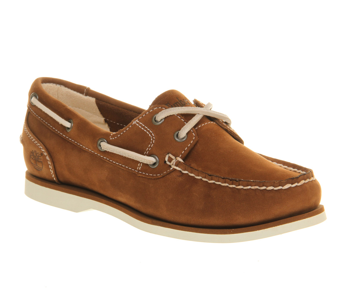 timberland women's classic boat shoes tan