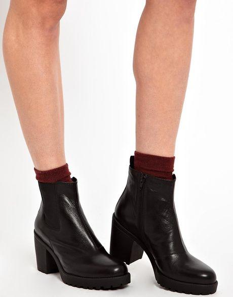 asos vagabond grace platform chelsea boots in black lyst. Black Bedroom Furniture Sets. Home Design Ideas