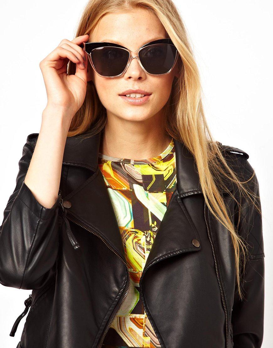 cat eye sunglasses - Black A.J. Morgan rGoEKQI