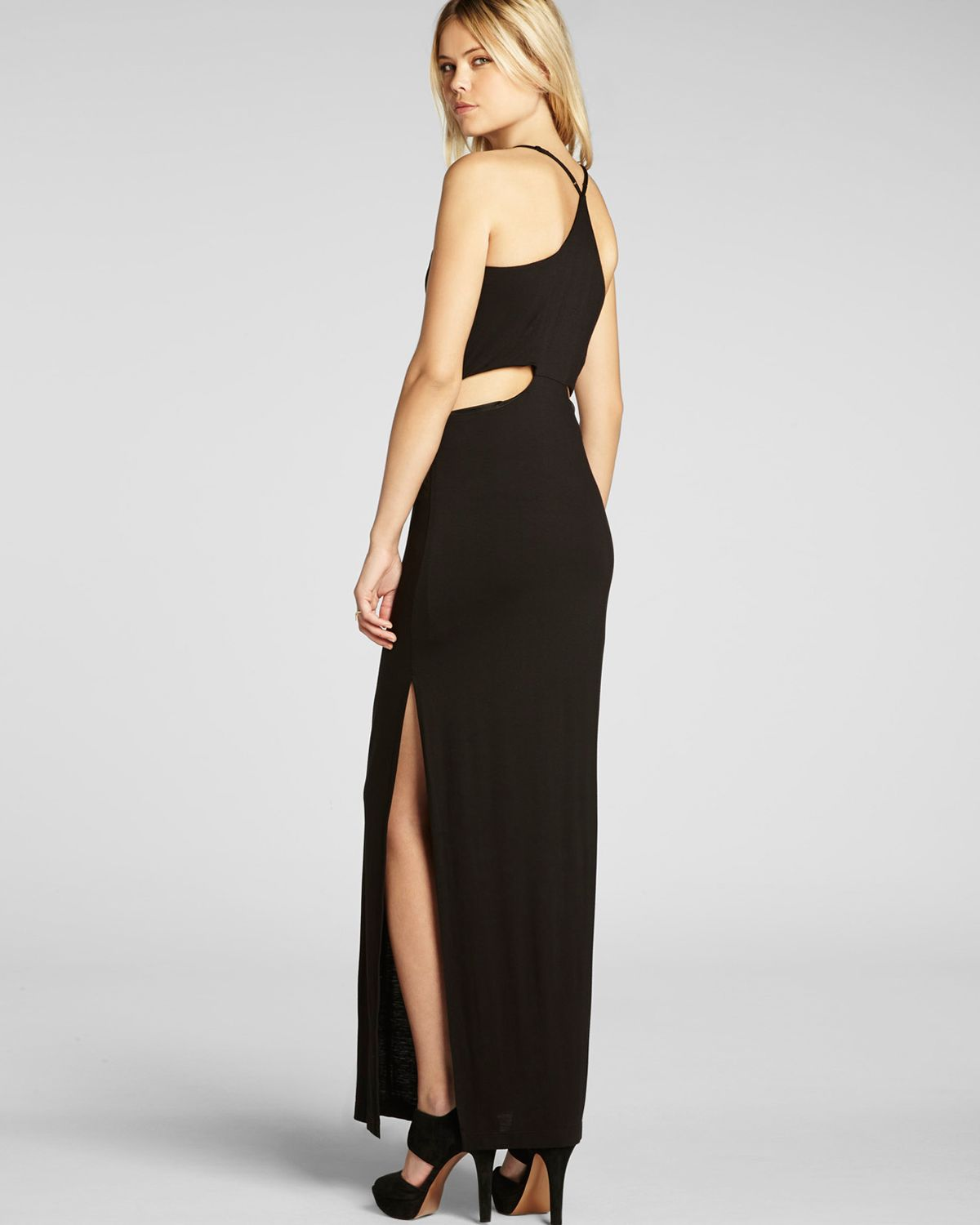 Bcbgeneration Maxi Dress Cutout Waist in Black | Lyst