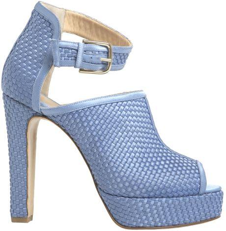 Bionda Castana Cornflower Blue Christa Sandals  in Blue