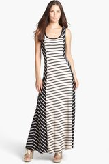 Calvin Klein Stripe Maxi Dress - Lyst