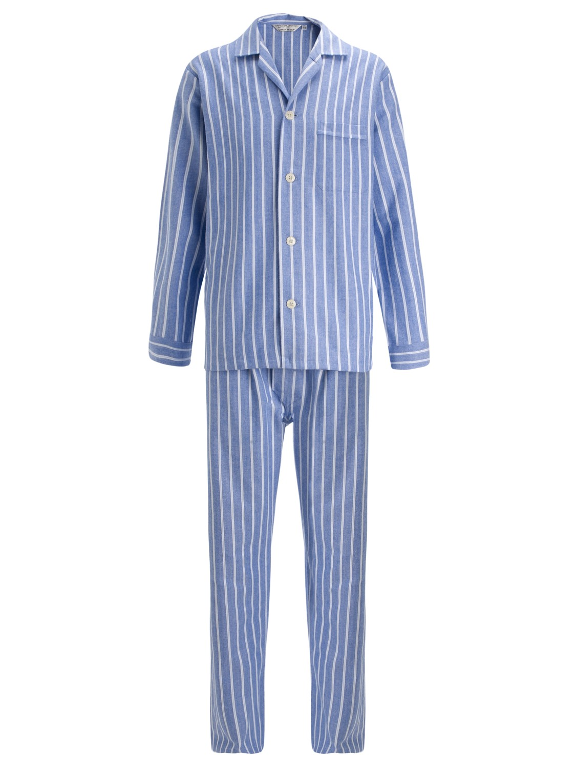 Derek Rose Savile Row Stripe Cotton Pyjamas in Blue for Men - Lyst