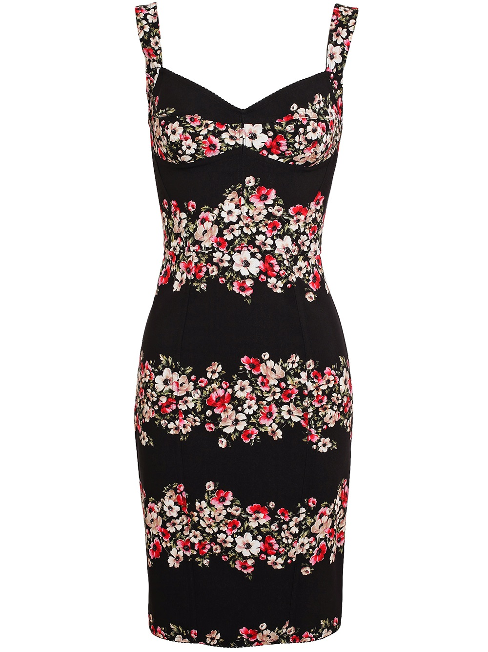 Lyst Dolce Amp Gabbana Floral Printed Crepe Dress