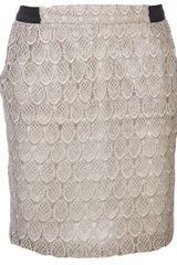 Harvey Faircloth Lace Skirt - Lyst