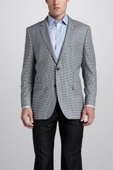 Hugo Boss Microcheck Sport Coat Bluegreen - Lyst