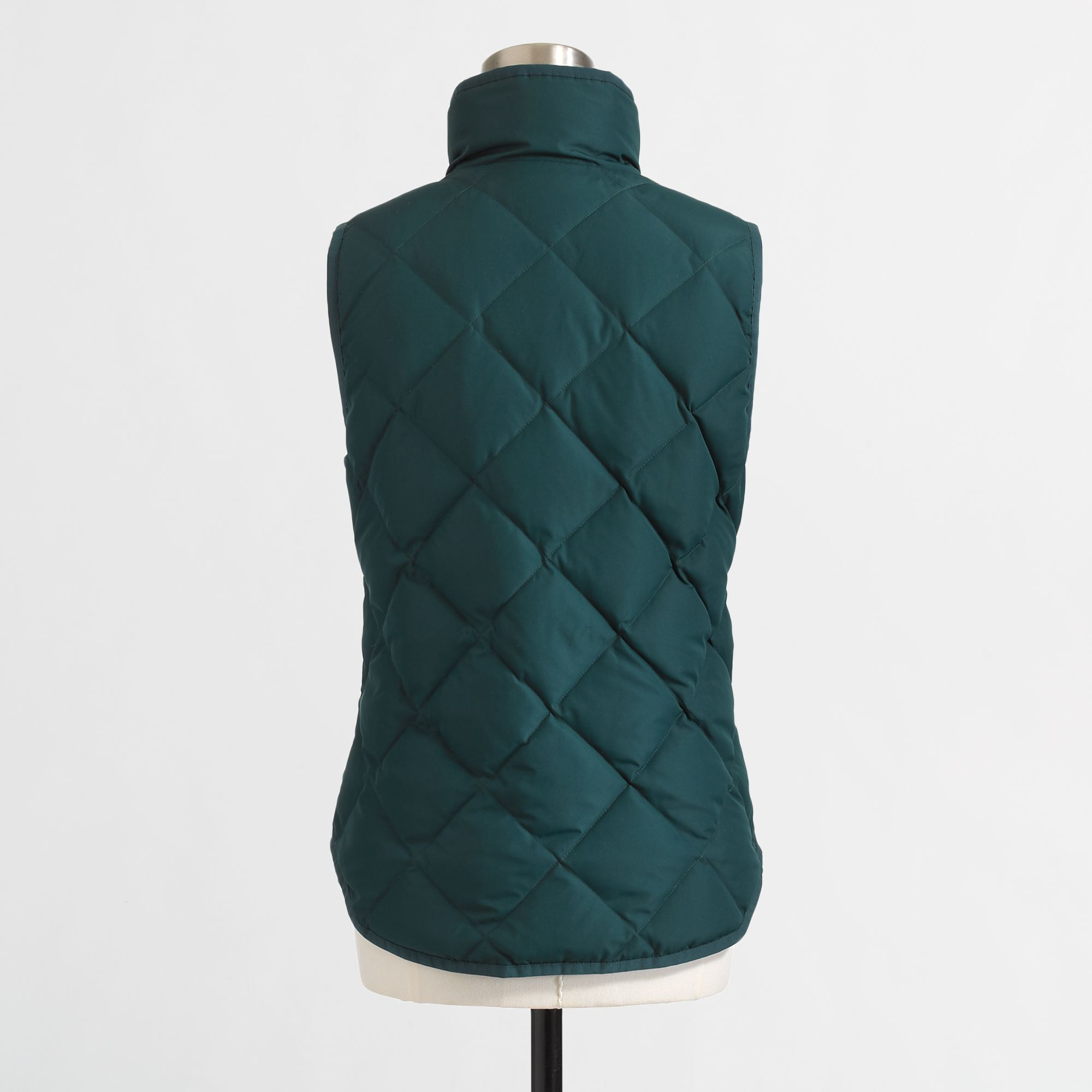 J Crew Factory Quilted Puffer Vest In Green Boulevard