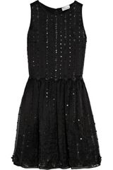 RED Valentino Embellished Silkorganza Dress - Lyst