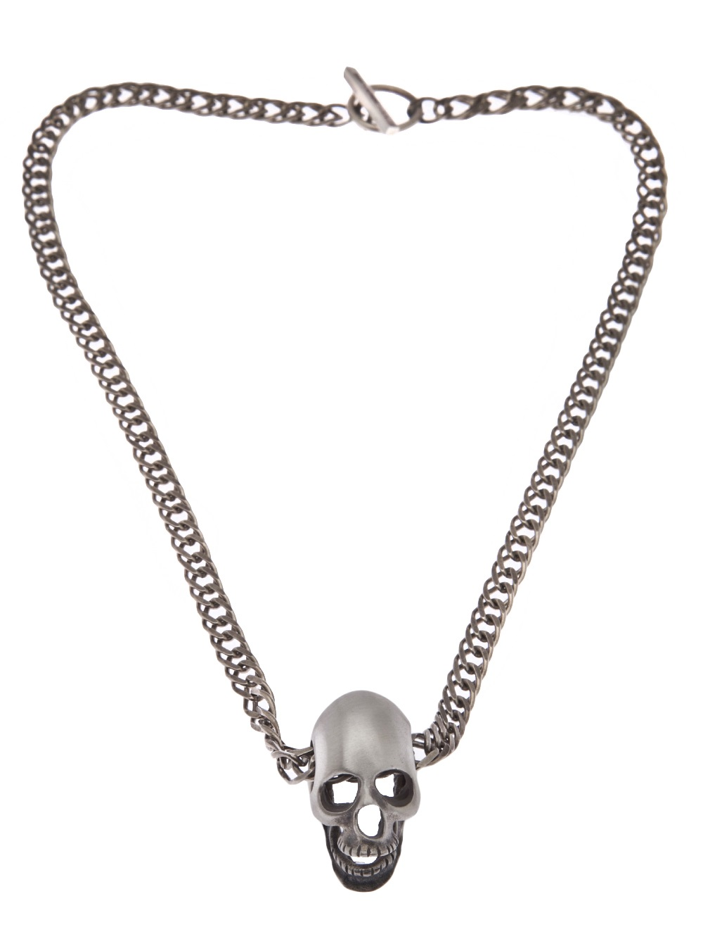 Lyst Saint Laurent Skull Necklace in Metallic for Men