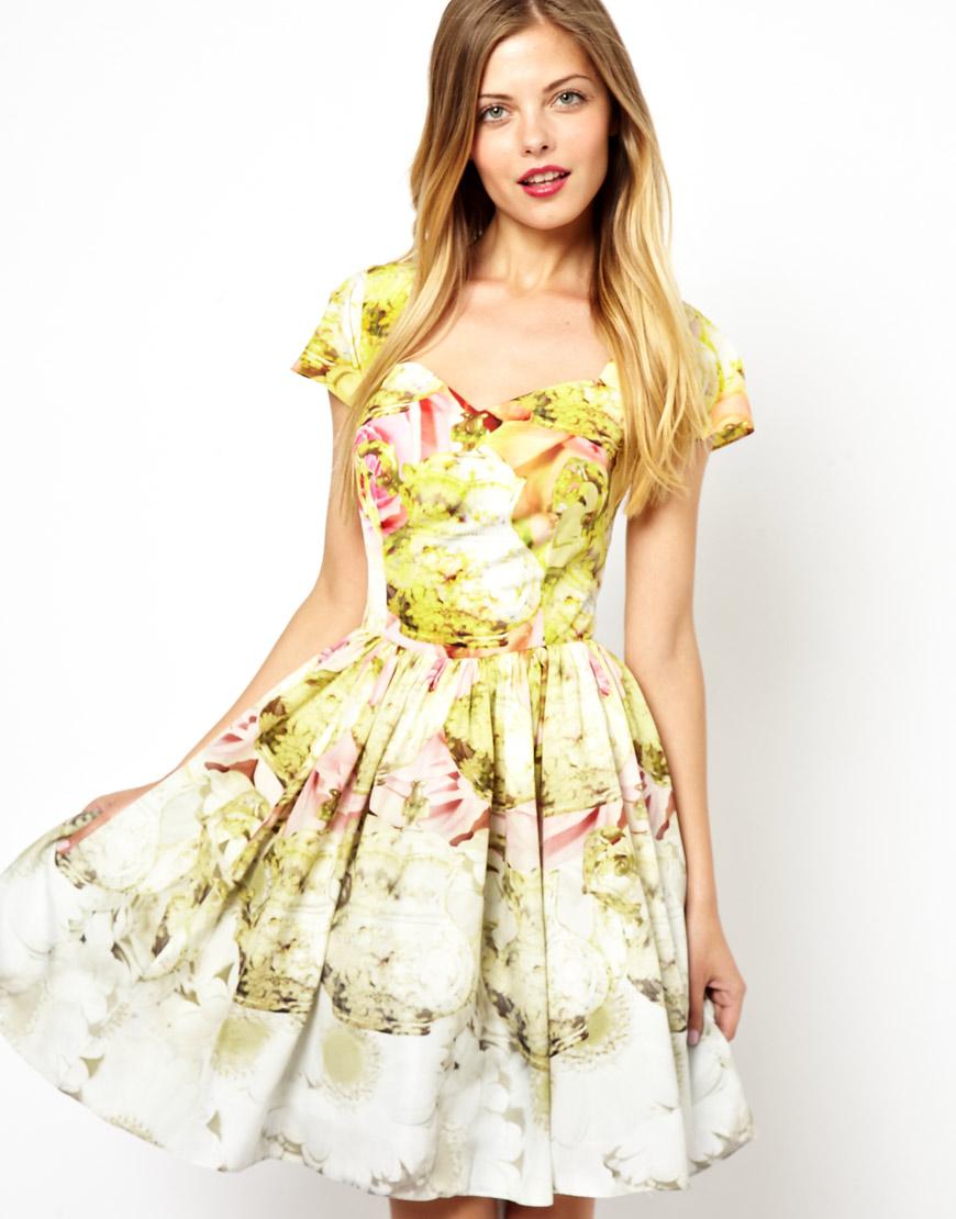 Lyst - Ted Baker Haruna Tea Party Border Print Dress
