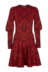 Alexander McQueen Glory Jacquard Dress - Lyst