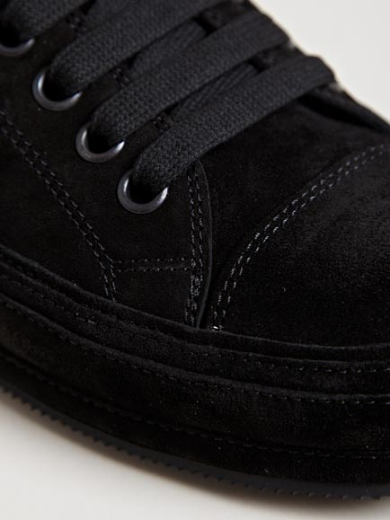 Ann Demeulemeester Mens Low Nubuck Scamosciato Sneakers In