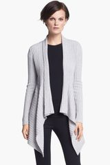 Autumn Cashmere Draped Rib Knit Cardigan - Lyst