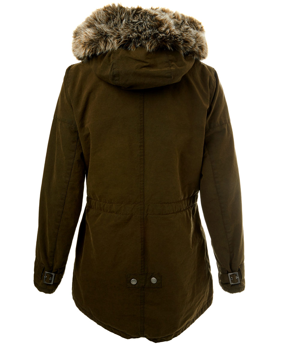 Barbour Olive Wax Hooded Parka Jacket in Green for Men | Lyst