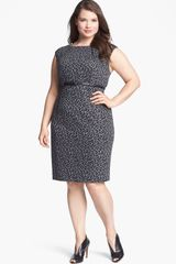 Calvin Klein Cap Sleeve Print Sheath Dress - Lyst