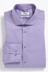 Calvin Klein Slim Fit Dress Shirt - Lyst