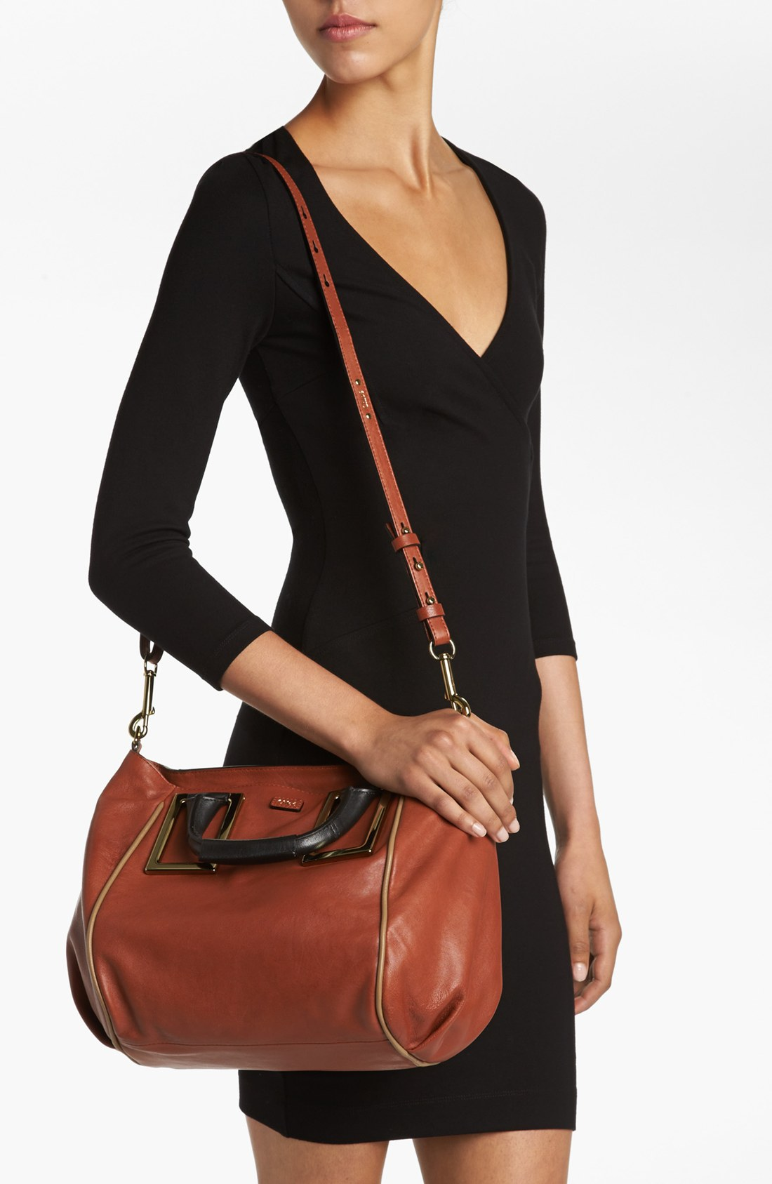 Chlo¨¦ Ethel Medium Leather Tote in Red (Red Blush) | Lyst