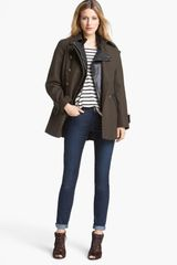 DKNY Double Breasted Military Peacoat - Lyst