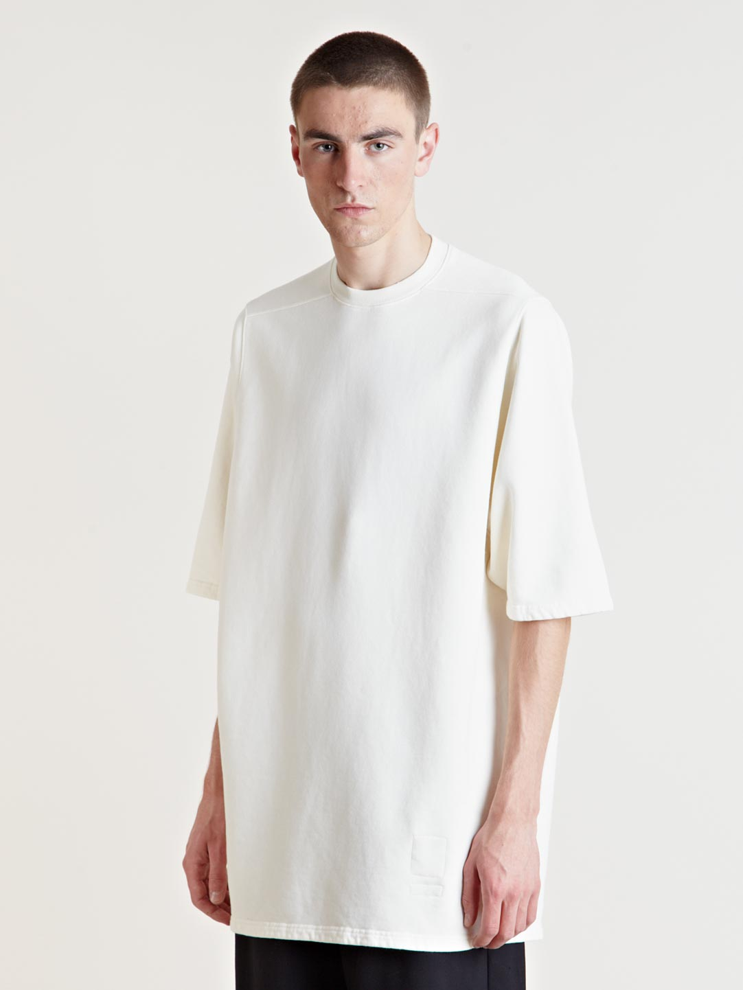drkshdw by rick owens mens jumbo tshirt in white for men