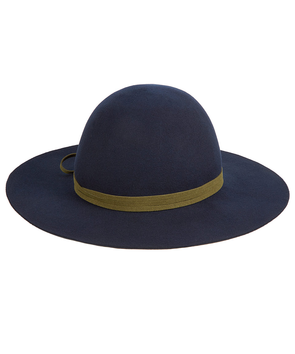 Hat Attack Navy Felt Round Floppy Hat in Blue for Men - Lyst ab62bd55742