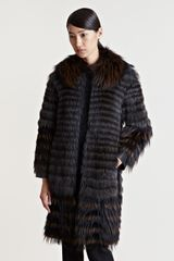 Lanvin Womens Raccoon Fur Coat - Lyst