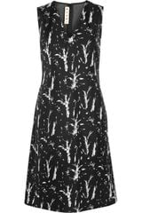 Marni Printed Bonded Silk and Jersey Dress - Lyst