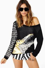Nasty Gal Chomp Knit - Lyst